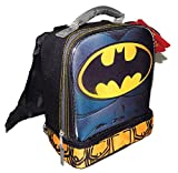 BATMAN DC COMICS Lead Safe Dual Chamber Insulated Lunch Tote Bag Box w/Cape