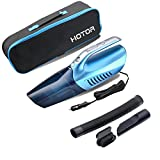 Kyпить Car Vacuum Cleaner 【with Bright Led Light】,HOTOR 2 in 1 Powerful Wet/Dry DC 12V Handheld Portable Vacuum for Car(Blue) на Amazon.com