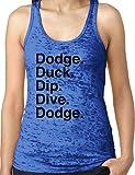 Amdesco Ladies Dodge Duck Dip Dive Dodge Burnout Racerback Tank Top, Royal Blue XL