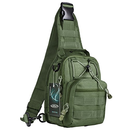 G4Free Outdoor Tactical Backpack,Military Sport Pack Daypack Shoulder Backpack for Camping, Hiking, Trekking,Rover Sling Pack Chest Pack