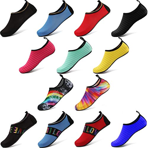 ANLUKE Water Shoes Barefoot Aqua Yoga Socks Quick-Dry Beach Swim Surf Shoes for Women Men