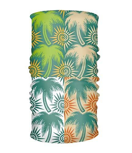 Hardware Palm Tree - Women Headband Boho A Set With Palm Trees And The Sun Style Head Wrap Hair Band
