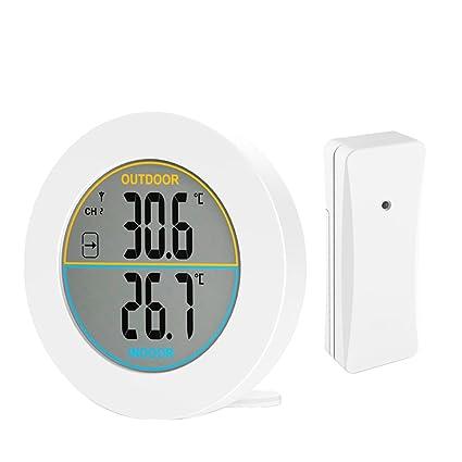 Betuy Termómetro Digital, Monitor de Temperatura Interior Pantalla LCD Grande, estación meteorológica Multifuncional,