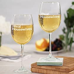 The Real Housewives Wine Glass with Stem – Set of 2