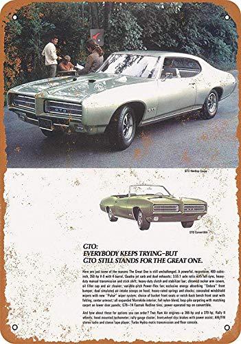 - Pontiac GTO Tin Wall Signs Retro Iron Painting Metal Poster Warning Plaque Art Decor for Garage Home Garden Store Bar Café