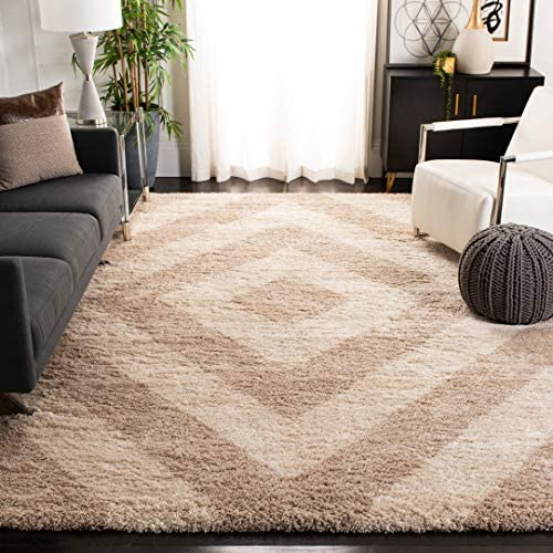 Safavieh Portofino Shag Collection PTS217B Ivory and Beige Area Rug 8 x 10