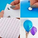 szblnsm 100 Points Balloon Attachment Glue dot Attach Balloons to Ceiling or Wall Balloon Stickers Birthday Party Wedding Dress wholesal