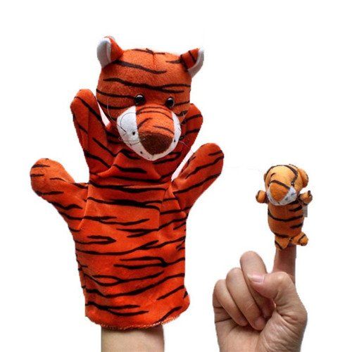 Costume Diy Cat Kitty Halloween (2Pcs (1 Big+1 Small) Lovely Kids Baby Plush Toys Finger Puppet Talking Props Animals Hand)