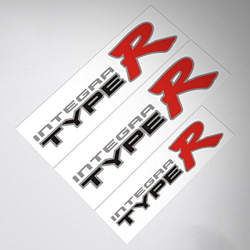 a Type R Sticker For HONDA DC2 (Silver Background + Black Letter) ()