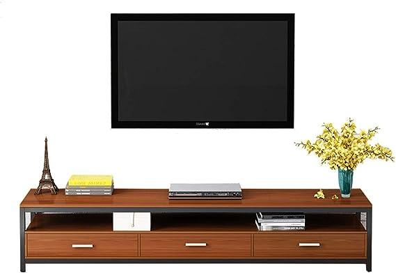 Gububi Organizador de Escritorio de Almacenamiento de televisión salón de TV Medios de Almacenamiento Soporte/Mesa (Color : Marrón, tamaño : 120x40x30cm): Amazon.es: Hogar