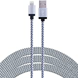 SEGMOI® 3M/10Ft iPhone Lightning Charging Cable Nylon Braided Charger Cord USB Charge Sync Wire for Apple iPhone 7/7 Plus/6/6s/6 Plus/6s Plus,5c/5s/5,iPad Air/Mini,iPod Nano/Touch