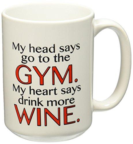 3dRose Head Heart Drink Wine