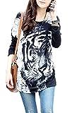 Relipop Women Fashion Shirt Long Sleeve Loose Blouse Casual Tops