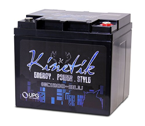 Kinetik HC1200-BLU Black lead_acid_battery (Best Car Stereo Battery)