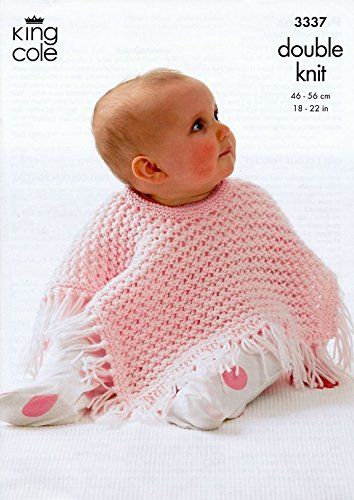 King Cole Baby Ponchos Confort Dk Knitting Pattern 3337 Amazon