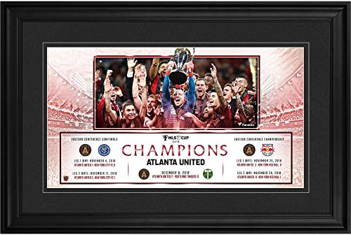 """Atlanta United FC 2018 MLS Cup Champions Framed 10"""" x 18"""" Panoramic Photograph - Soccer Plaques and Collages"""