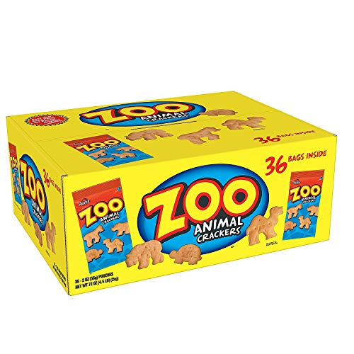 Austin Zoo Animal Crackers 36 Individually Packages of 2 Oz Each Sms-8