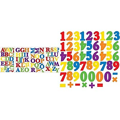 RoomMates Express Yourself Primary Peel and Stick Wall Decals and RoomMates Primary Numbers Peel and Stick Wall Decals