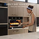 """Electric Single Wall Oven, GASLAND Chef ES606MB 24"""" Built-in Electric Ovens, 240V 2000W 2.3Cu.f 6 Cooking Functions Wall Oven, Mechanical Knobs Control, Black Glass Finish"""