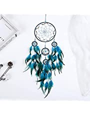 """Dream Catchers,Colors Feather Dream Catchers for Bedroom Wall Decoration for Kids 8"""" W 29.5"""" L (Blue)"""