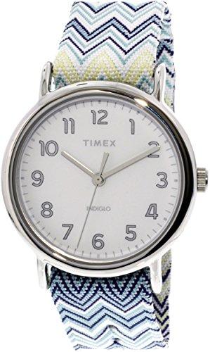 Timex Women's Weekender 38 TW2R59200 Silver Nylon Analog Quartz Fashion Watch