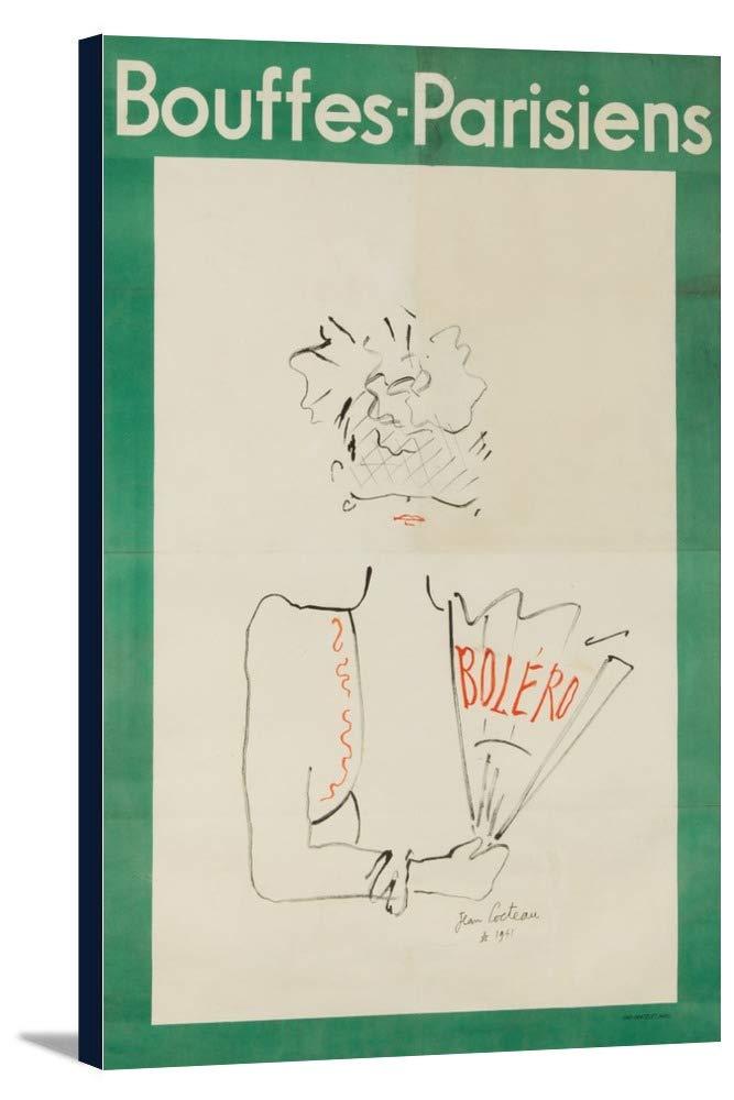 Bouffes – Parisiens – ボレロヴィンテージポスター(アーティスト: Cocteau )フランスC。1941 24 x 36 Gallery Canvas LANT-3P-SC-62628-24x36 B0184B23D8  24 x 36 Gallery Canvas