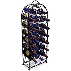 Sorbus Wine Rack Bordeaux Chateau Style - Holds 23 Bottles - No Assembly Required (Bronze)