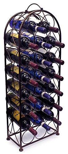 Sorbus Wine Rack Bordeaux Chateau Style - Holds 23 Bottles - No Assembly Required (Three Bottle Wine Rack)