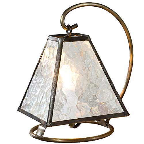 J Devlin Lam 651 Small Architectural Clear Glass Lamp Decorative Accent Light Nursery Bedroom by J Devlin Glass Art