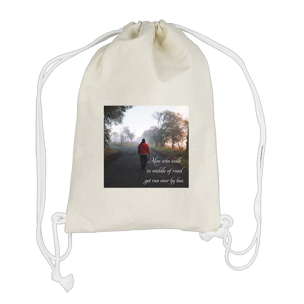 Fall In Glass Make Spectacle Of Self. Cotton Canvas Backpack Drawstring Bag