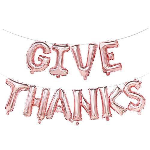 Give Thanks Balloon Banner   Thanksgiving Mylar Balloons