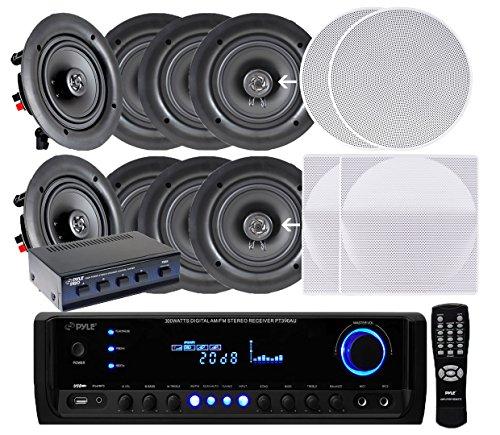 Best In Ceiling Stereo Speakers - Pyle KTHSP690S 4 Pairs of 200W