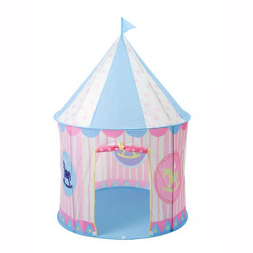roomnhome子インドア再生テントテントブルー城Playhouse for Kids Great Gift for Boys and Girls ピンク Play Tent B078S5SMBZ ライトピンク