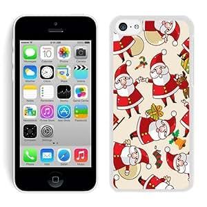 Customized Iphone 5C TPU Case Cartoon Santa Claus White iPhone 5C Case 1