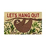 DII Spring/Summer Doormat, 18x30x0.5, Hang Out Sloth