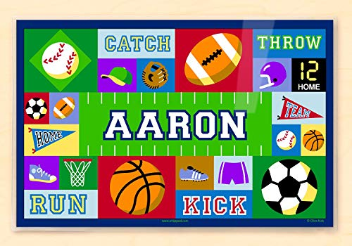 Personalized Placemats Christmas (Olive Kids Bedding Game On Personalized Placemat blue)