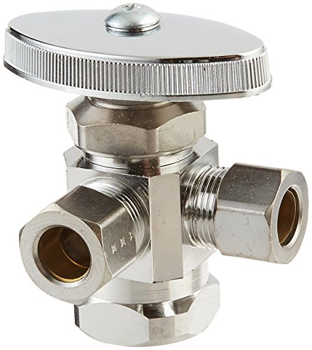 (BrassCraft R1701LRX C1 Dual Outlet Stop with Female Iron Pipe Inlet 1/2-Inch F.I.P,)
