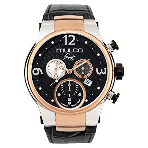 mulco watches for men usa watches store mulco frost mw5 2602 023 black leather band men watch