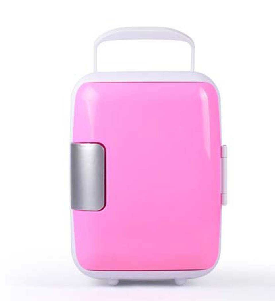 DSHBB Car Fridge Mini, Camping Coolers , Travel, Picnic, Camping Outdoor Use (Color : Pink)