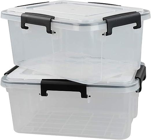 Yarebest Caja de Almacenamiento de Plástico, Transparente, Paquete ...