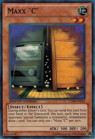 "Yugioh Maxx /""C/"" CT09-EN012 Super Rare Limited Edition"