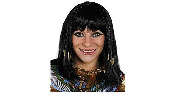 egipcio Peluca Mujer Cleopatra Peluca Accesorio Disfraz Mujer Reina De Nilo Negro Peluca con trenzas EN EL OTRO, Grueso Flequillos: Amazon.es: Juguetes y ...