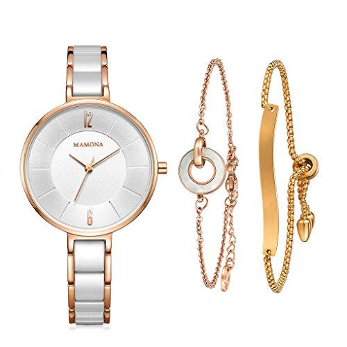 MAMONA-Womens-Watch-Bracelet-Gift-Set-Ladies-Stainless-Steel-Ceramic-Watch-Rose-Gold-L3887RGGT