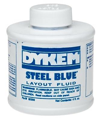 Amazon.com: Dykem 80300 Steel Blue Layout Fluid, Brush-in ...