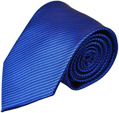 Alizeebridal Men's 8CM Width Stripes Formal Self Tie Neckties