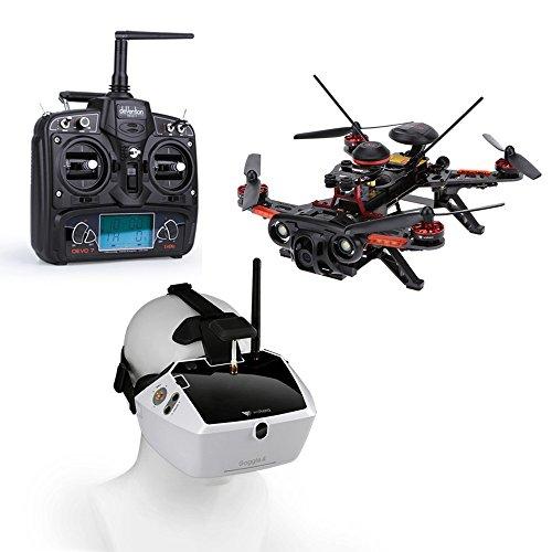 Walkera Runner 250(GPS1)800TVL Racing Drone FPV with Goggle4 FPV Glasses DEVO 7 FPV RTF OSD GPS Transmitter RC Quadcopter
