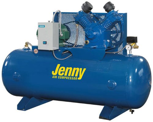 Jenny Compressors GT5B-60-230/1 5-HP 60-Gallon Tank 1 Phase 230-Volt, Horizontal Electric Two-Stage Stationary Compressor