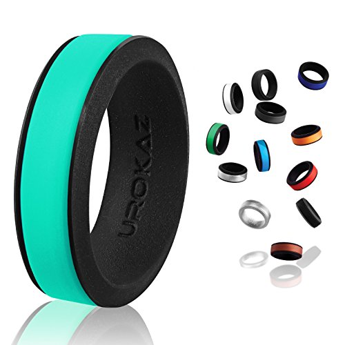 (UROKAZ - Silicone Wedding Ring, The Only Ring That Fits Your Lifestyle - Whether You are Single or Married, Ring is Right for You - It is Fashionable, Flexible, and Comfortable)