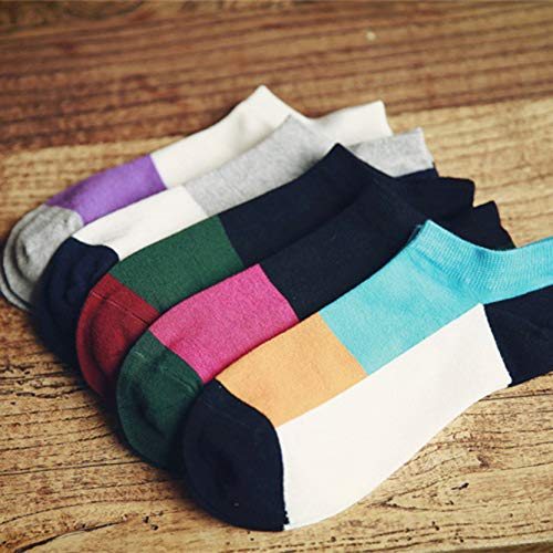 Amazon.com: SaveStore 5 Pairs Casual Summer Mens Socks Art Colorful Low Cut Socks Ankle Male Short Socks for Men Calcetines Hombre Chausettes: Kitchen & ...