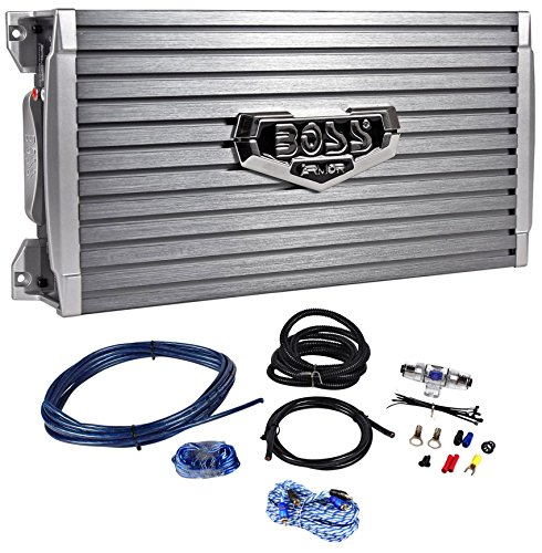 Boss Audio Armor AR1600.2 1600 Watt 2-Channel Car Audio Amplifier+Remote+Amp Kit by BOSS Audio Systems